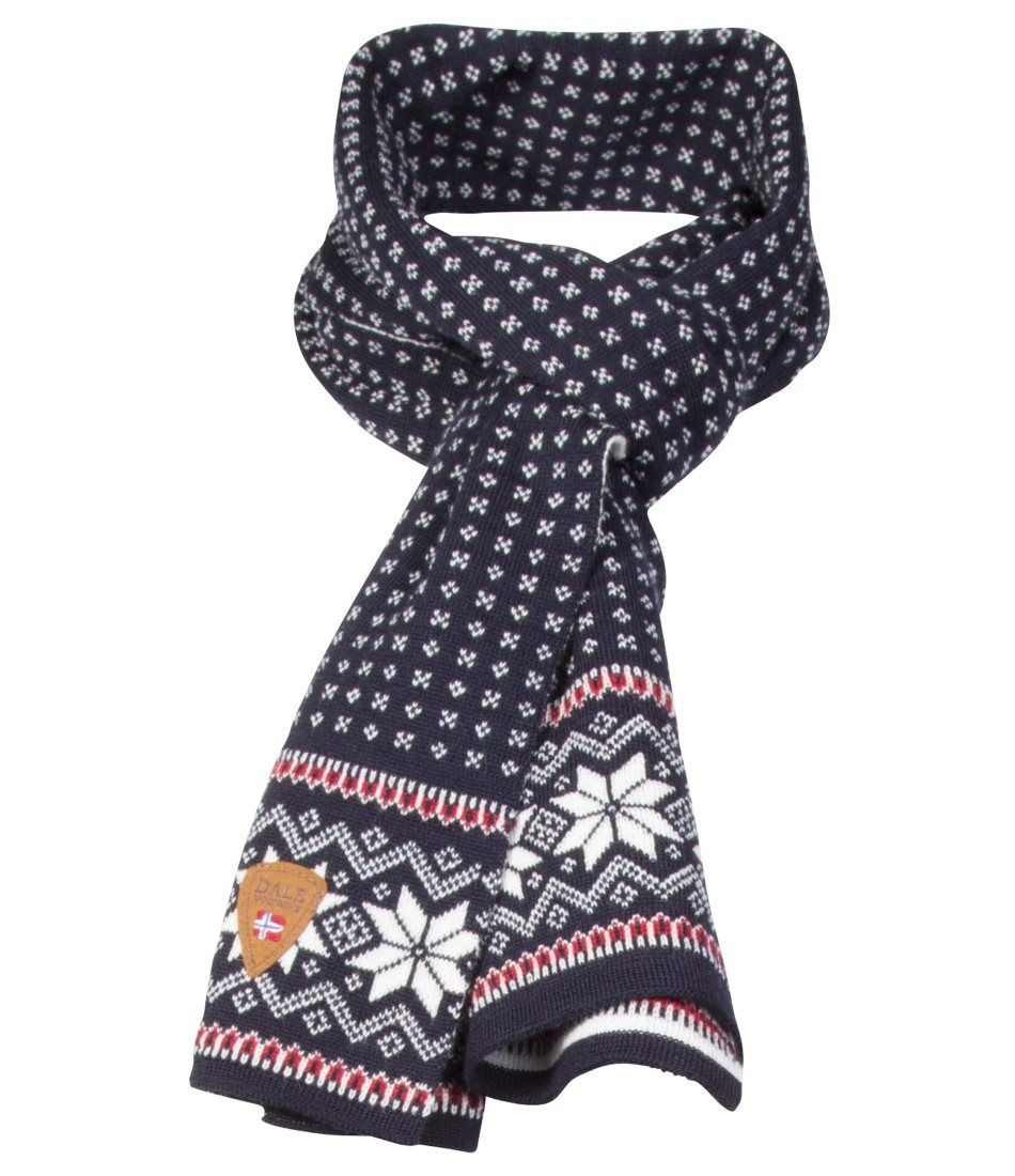 Garmisch Scarf - Navy / Off White / Raspberry