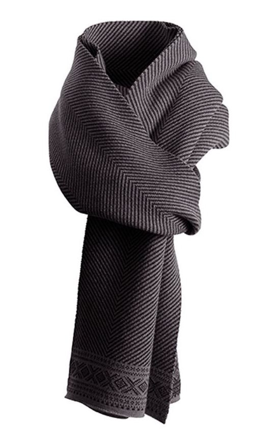 Harald Scarf - black / dark charcoal