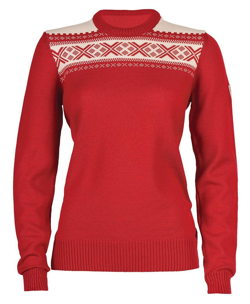 Hemsedal Feminine Sweater - Raspberry / Off White