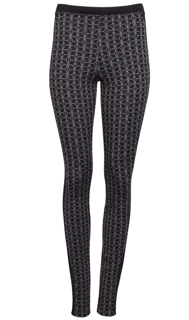 Stjerne Basic Leggings - Black / White