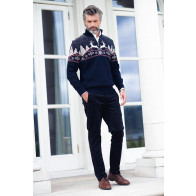 Christmas Masculine Sweater Navy