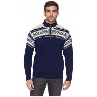 Cortina Half Zip Unisex Sweater Navy
