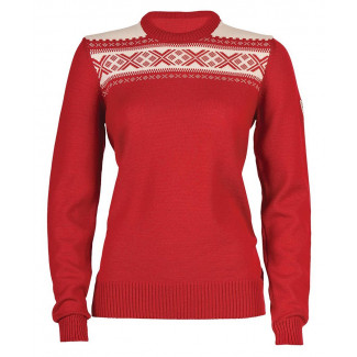 Hemsedal Feminine Sweater - RTaspberry / Off White