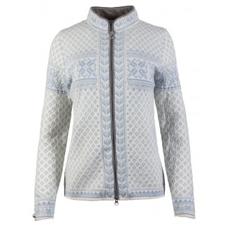 Sunniva Feminine Cardigan - Off White / Blue Ice