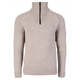 Blyfjell Unisex Sweater - smoke / dark charcoal / cream