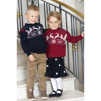 Christmas Sweater Kids Navy
