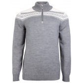 Cortina Merino Sweater - Smoke / Off White